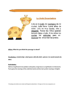 Reading Comprehension in Spanish (2 Reading Activities)