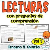 Reading Comprehension in Spanish -Nonfiction in Spanish - Comprensión de lectura