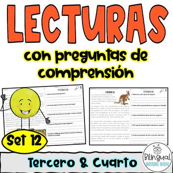 Reading Comprehension in Spanish Set 12 - Comprensión de lectura