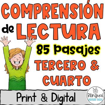 Reading Comprehension in Spanish Growing  Bundle- Comprensión de Lectura