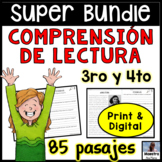 Reading Comprehension in Spanish Growing  Bundle- Comprensión de Lectura