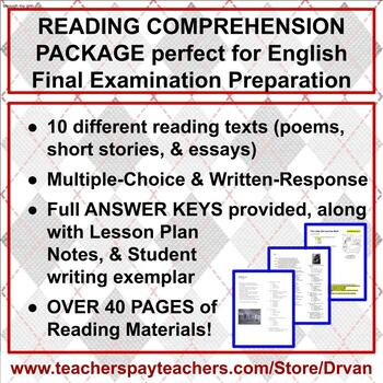 Reading Comprehension of Texts & English Examination Preparation
