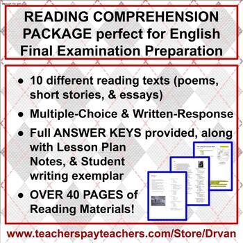 Reading Comprehension of Texts & English Examination Preparation