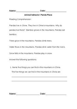 Reading Comprehension on Panda