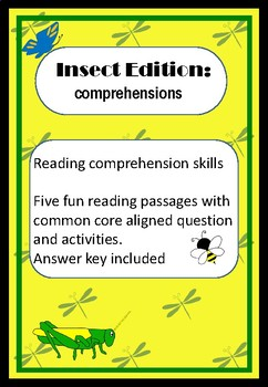 Reading Comprehension pack: Insect Edition