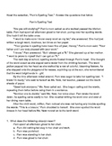Reading Comprehension test with Passage