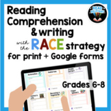 Reading Comprehension & the RACE Writing Strategy, grades
