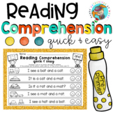 Reading Comprehension with Daubers (Kindergarten Edition Set 1)