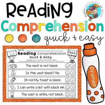 Reading Comprehension with Daubers (Kindergarten Edition Set 2)