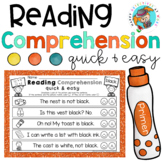 Reading Comprehension with Daubers (Kindergarten Edition Set 2)