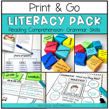 Editable Reading Comprehension w/Graphic Organizers & Daily Center Activities