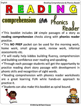 Reading Comprehension with Phonics Reader (NO PREP)