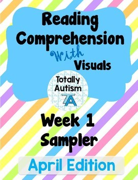 Reading Comprehension with Visuals: April Edition Week 1 Sampler