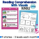 Reading Comprehension with Visuals Bundle (autism)