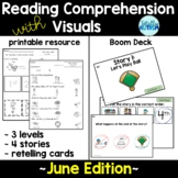 Reading Comprehension with Visuals (June) + BOOM Deck
