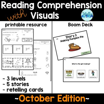 Reading Comprehension with Visuals: October Edition