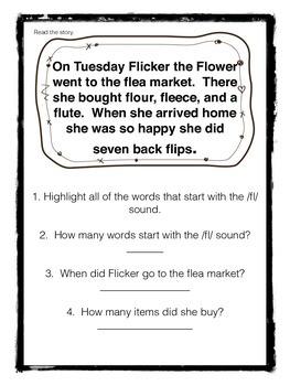 Reading Comprehension with /fl/ blend