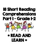 Reading Comprehensions - Grade 1, 2, 3