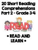 Reading Comprehensions Grade 3 and 4