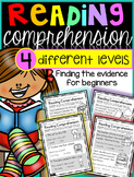 Reading Comprehension: {4 different levels}