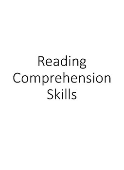 Reading Comprehenson Posters