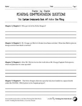 Reading Comprehension Questions | Captain Underpants Book #7