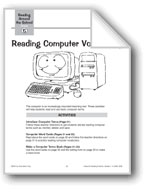 Reading Computer Vocabulary
