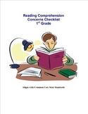 Reading Concern Checklist 1st grade
