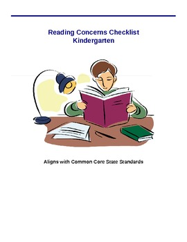 Reading Concern Checklist - Kindergarten