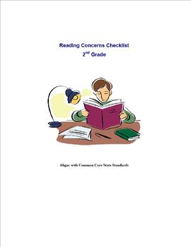Reading Concern Checklist for 2nd Grade