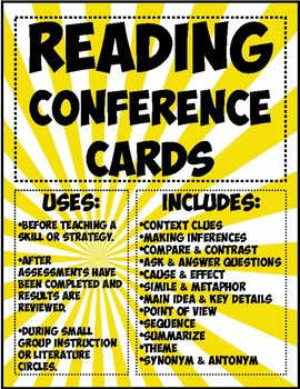 Reading Conference Cards