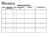 Reading Conference Form