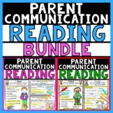 Reading Conference Forms | Reading Assessment Parent Letters
