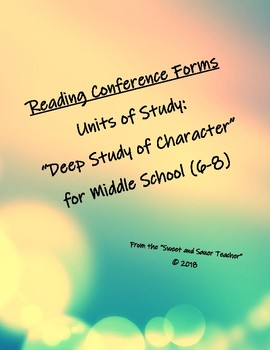 Reading Conference Forms (Deep Study Of Character)