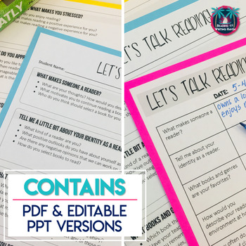 Reading Conference Forms and Questions for Getting to Know Your Readers