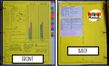 Reading Conference Labels Forms and Sticky Rubrics