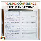Reading Conference Forms and checklist labels for Reading conference notes