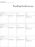 Reading Conference Logs