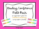 Reading Conference Note Pack - Templates for Individual Conferring!