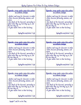 Authentic Dialogue Post It Notes for Reading Conferences