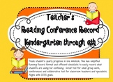 Reading Conference Record (K-6)