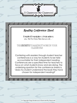 Reading Conference Recording Sheet - Reading Record Keeping - Document #1