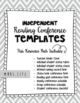 Reading Conference Templates | Keep track of your conferences & student progress