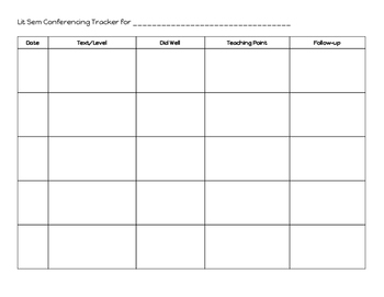 Reading Conference Tracker