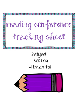 Reading Conference Tracking Sheet