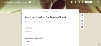 Reading Conferences Data Collection Form