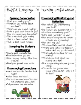 Reading Conferences helpful tips