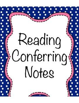 Reading Conferring Notes Bundle