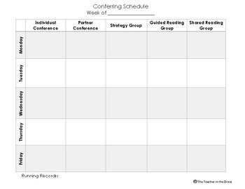 Reading Conferring Schedule