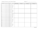 Reading Conferring and Guided Group Planning Sheet